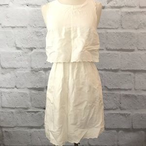 Madewell White eyelet tulip back dress